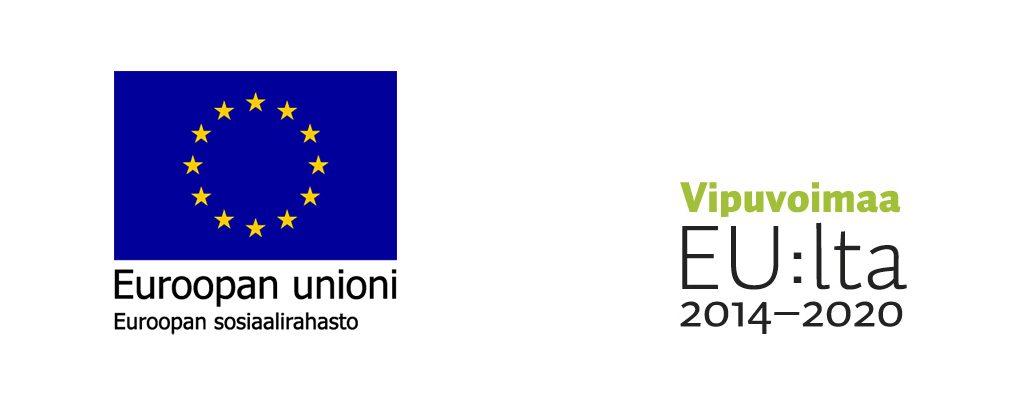 Kaksi logoa: Euroopan unionin ja ohjelman Vipuvoimaa EU:lta 2014-2020.