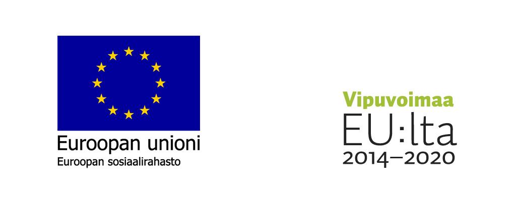 Rahoittajien logot: Euroopan unioni ja Vipuvoimaa EU:lta 2014 - 2020