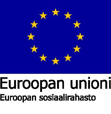 Euroopan unionin sosiaalirahaston logo.