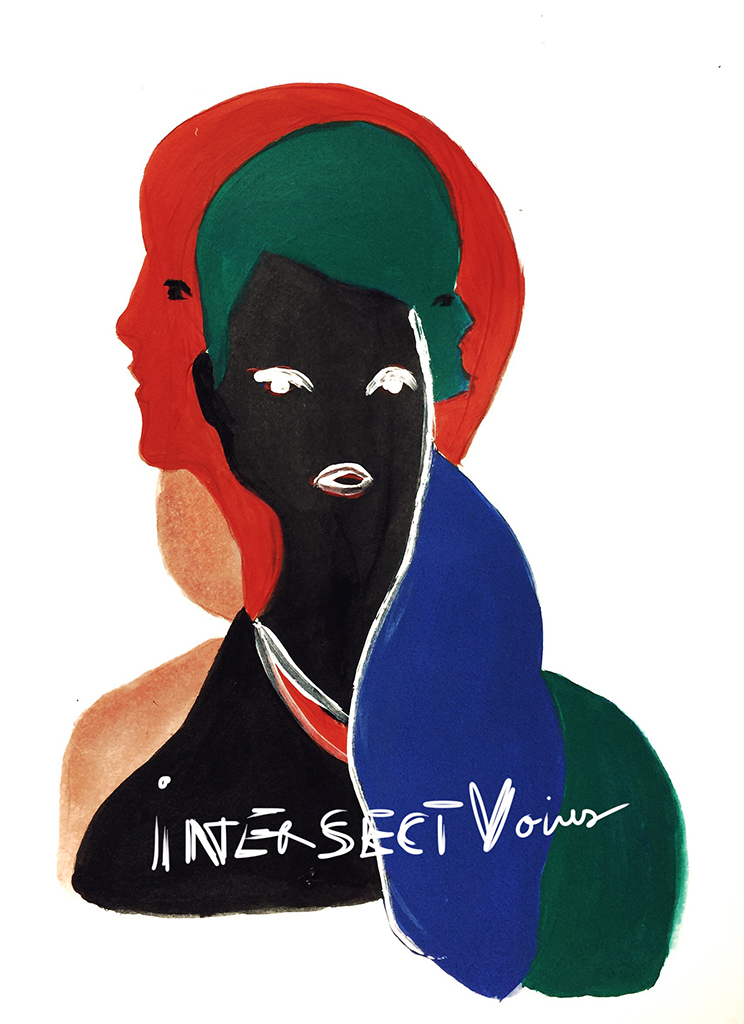 Logo of a project Intersect Voices.