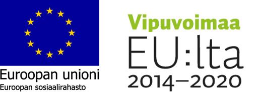 Euroopan unionin lippu ja Vipuvoimaa EU:lta logo
