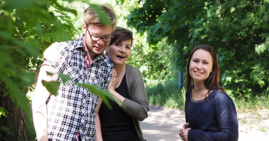Rudi, Minna ja Milla yhteiskuvassa